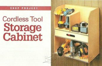 2470-Cordless Tool Storage Cabinet Plans