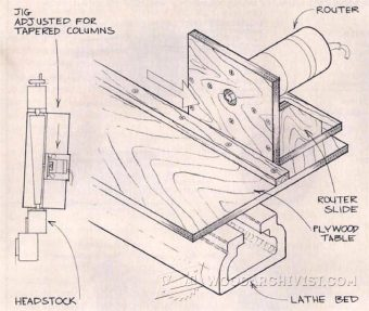 2471-Tapered Column Lathe Jig