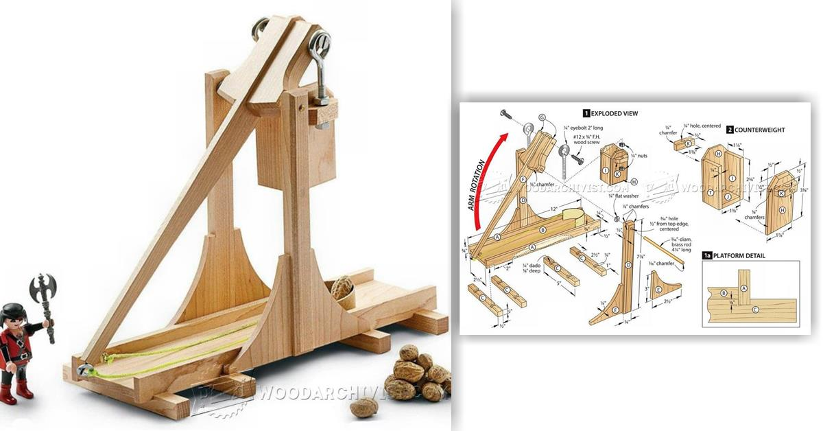 2472 Toy Catapult Plans Woodarchivist