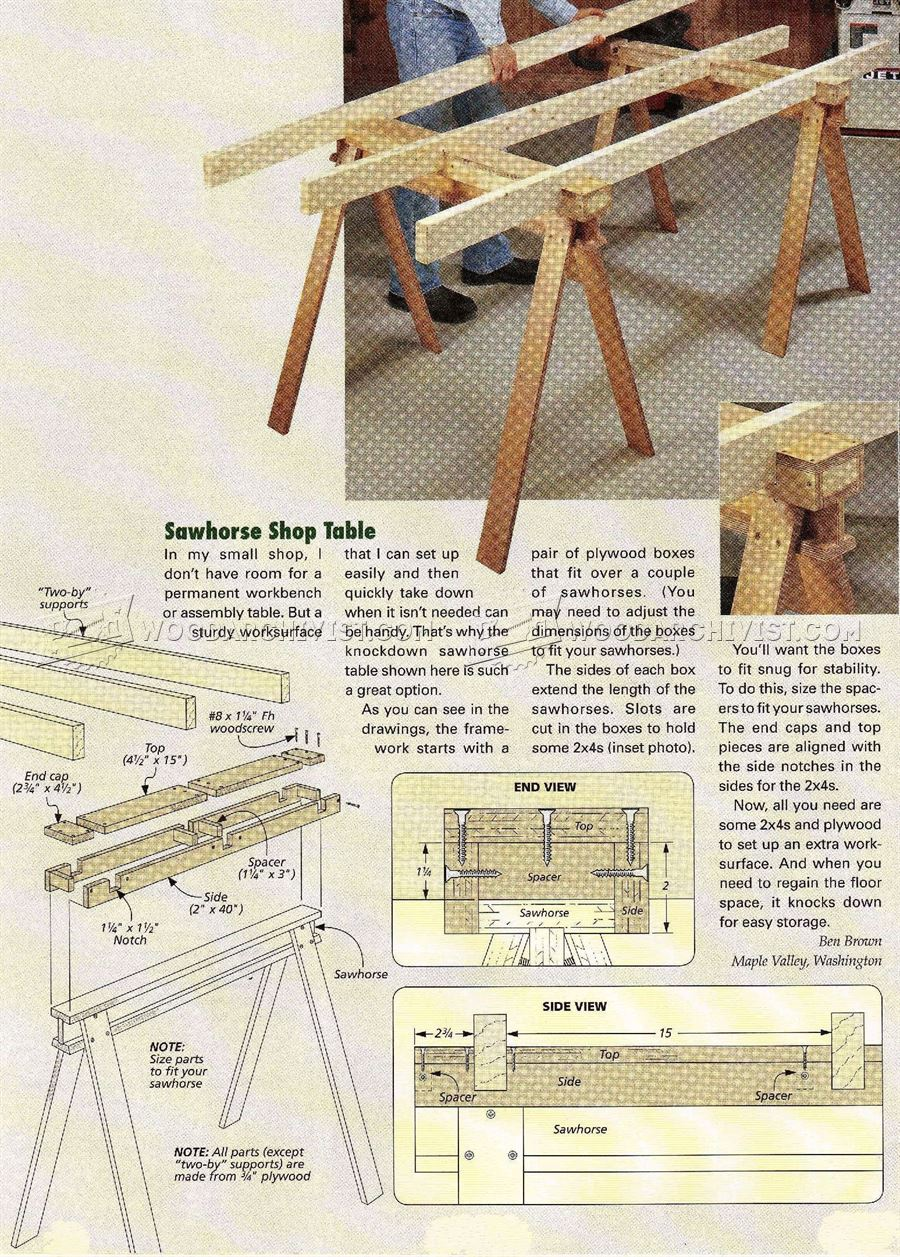 Build Sawhorse Table
