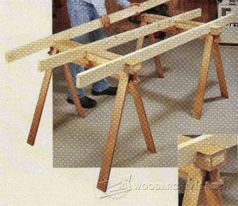2474-Build Sawhorse Table