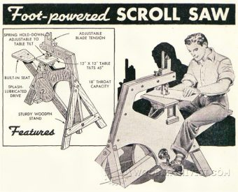 2475-Foot Treadle Scroll Saw Plan