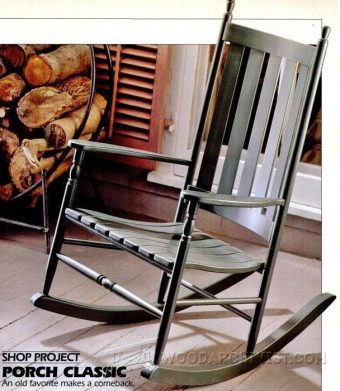 2477-Classic Rocking Chair Plans