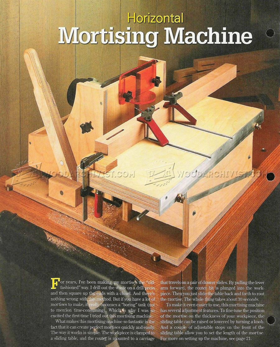 slot mortiser machine