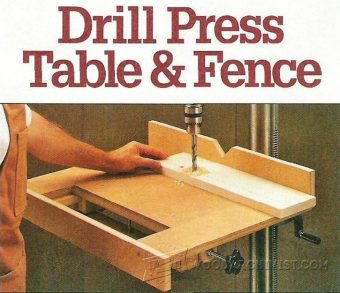 2480-Drill Press Table and Fence Plans