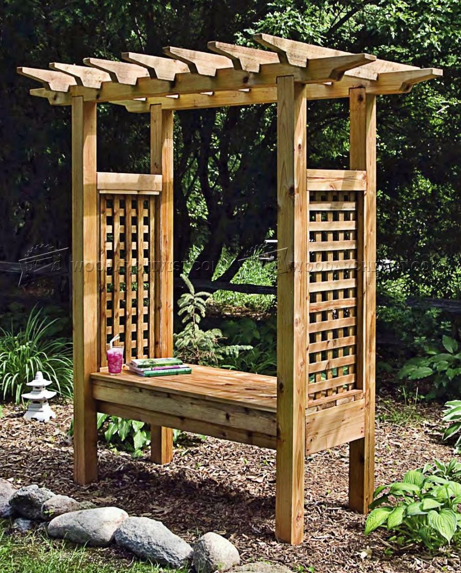 Arbor with bench plans 28 images arbor bench plans for Plans for arbors
