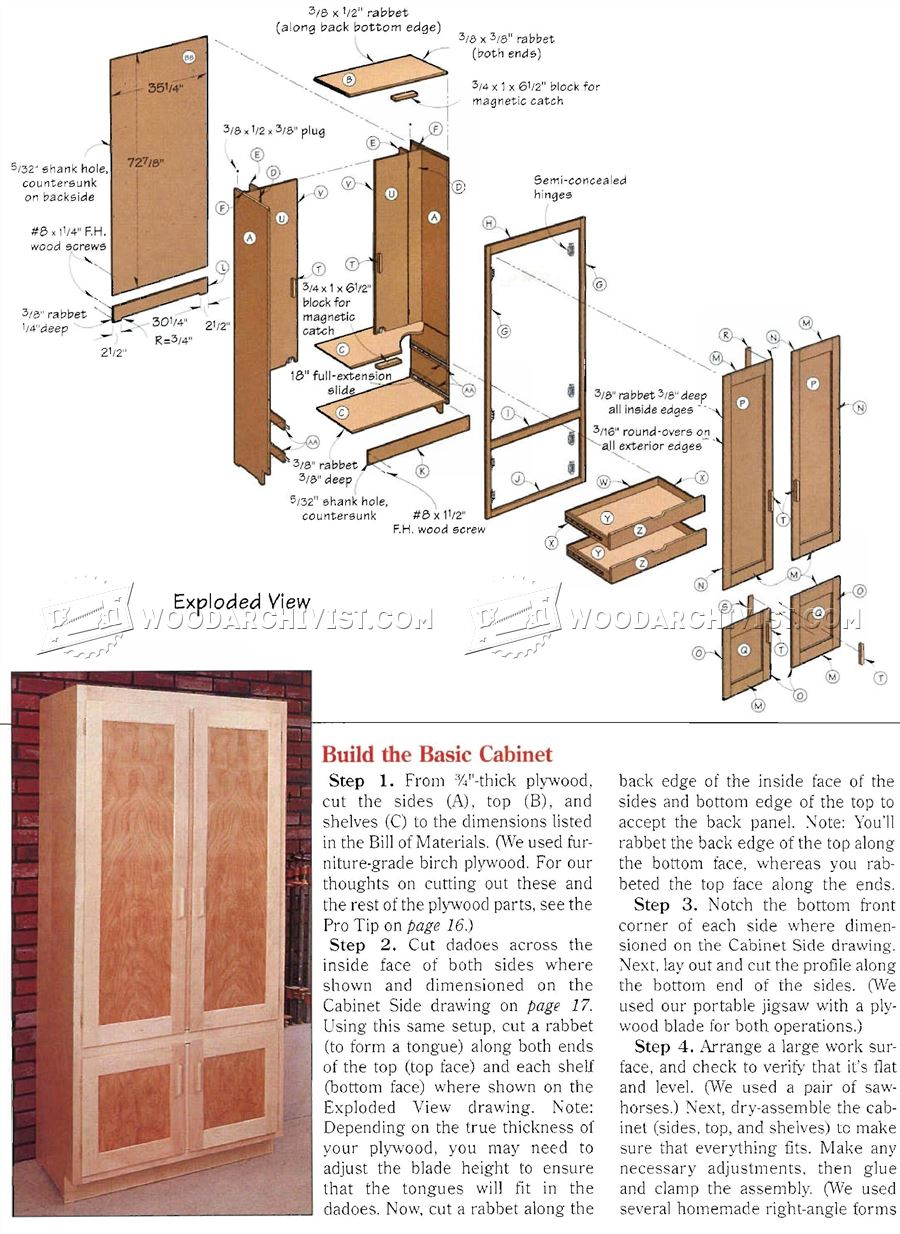 Shop Cabinet Plans • WoodArchivist