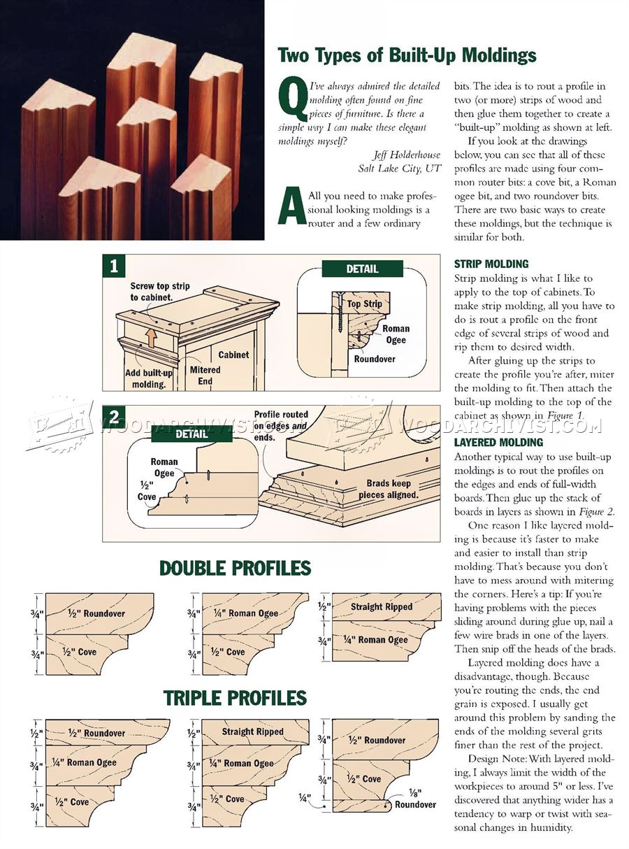 Built Up Molding Types