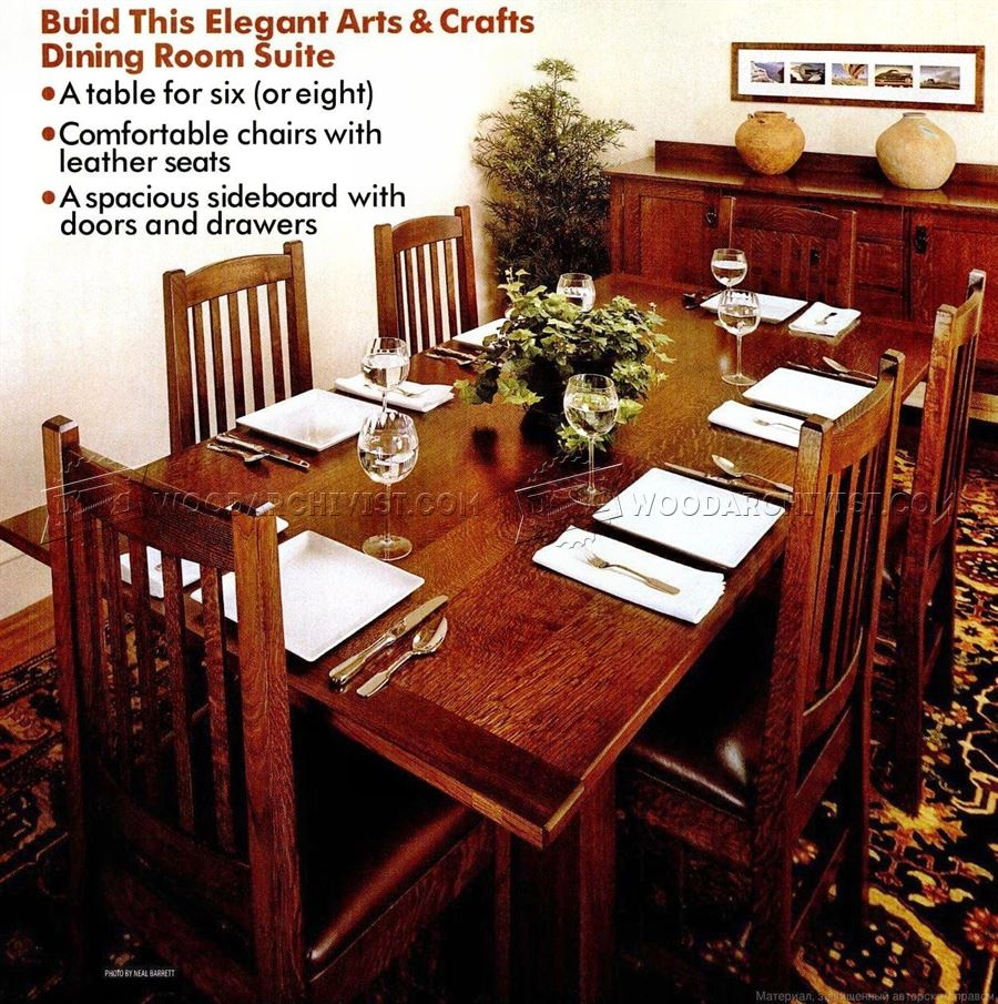 Dining Room Furniture Plans • WoodArchivist