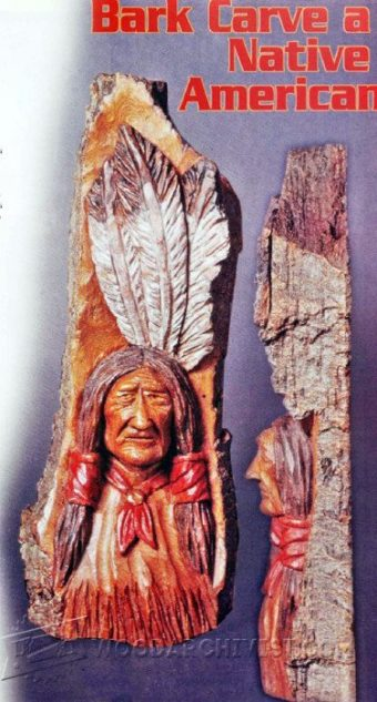 2496-Native American Wood Carving