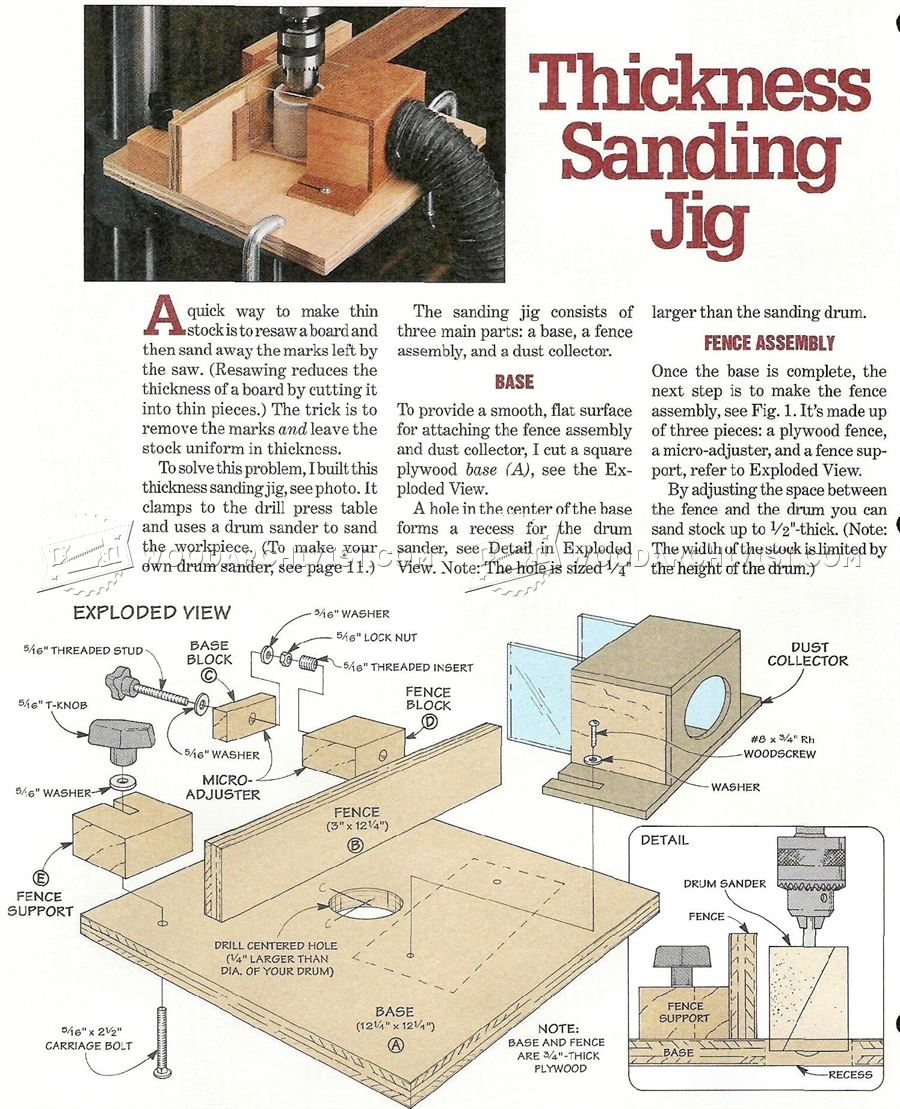 #2502 Thickness Sanding Jig