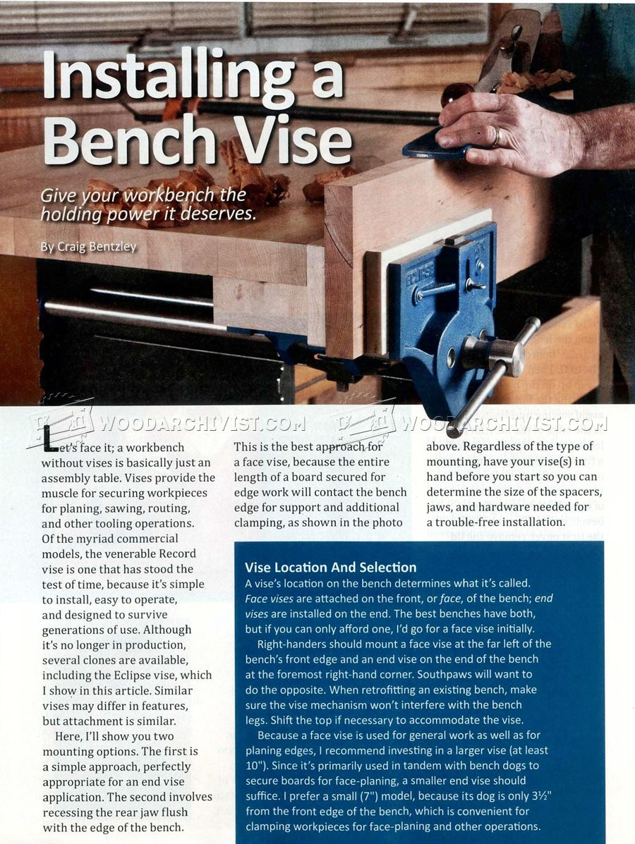 Install Bench Vise