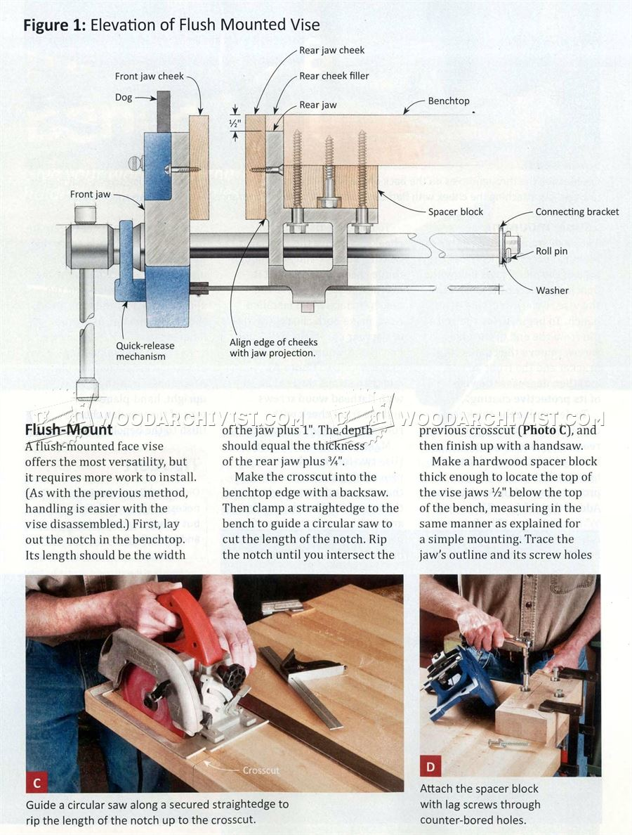 Install Bench Vise Woodarchivist