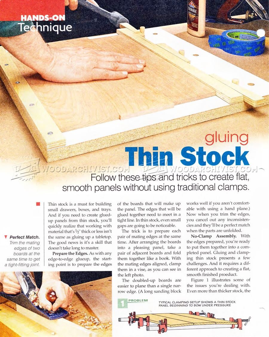 #2507 Gluing Thin Stock