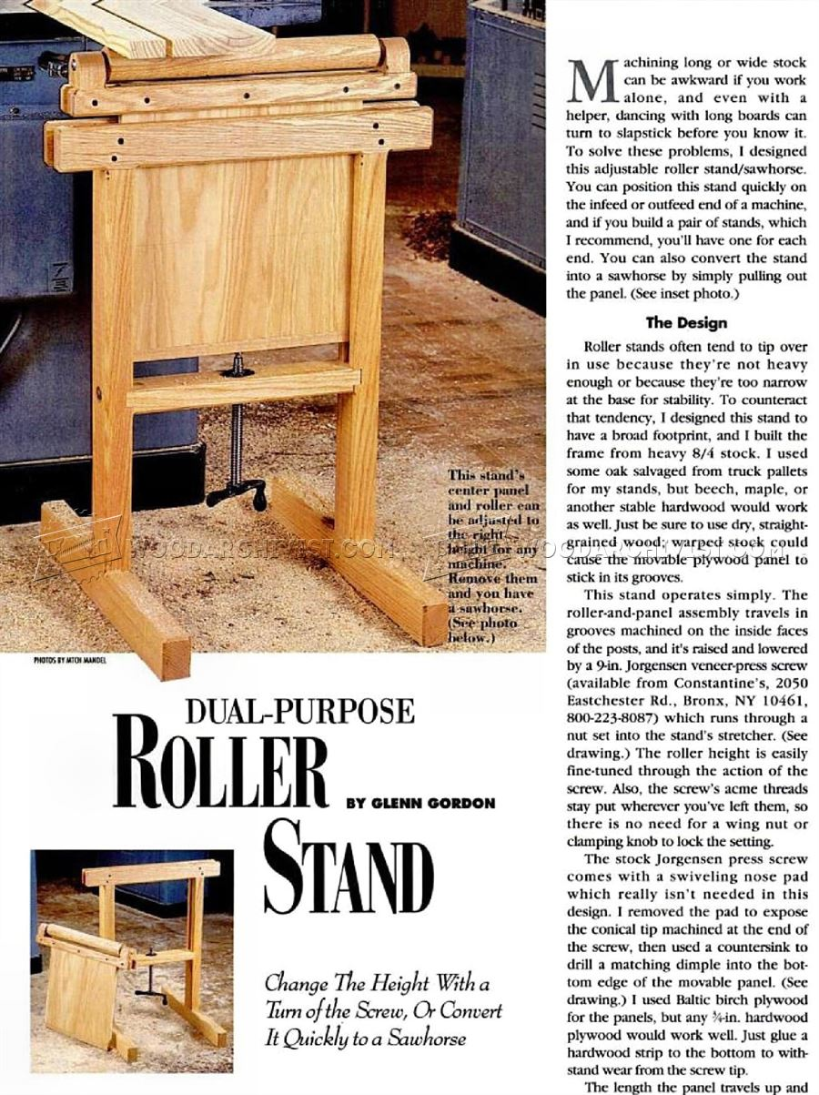 Roller Stand Plans