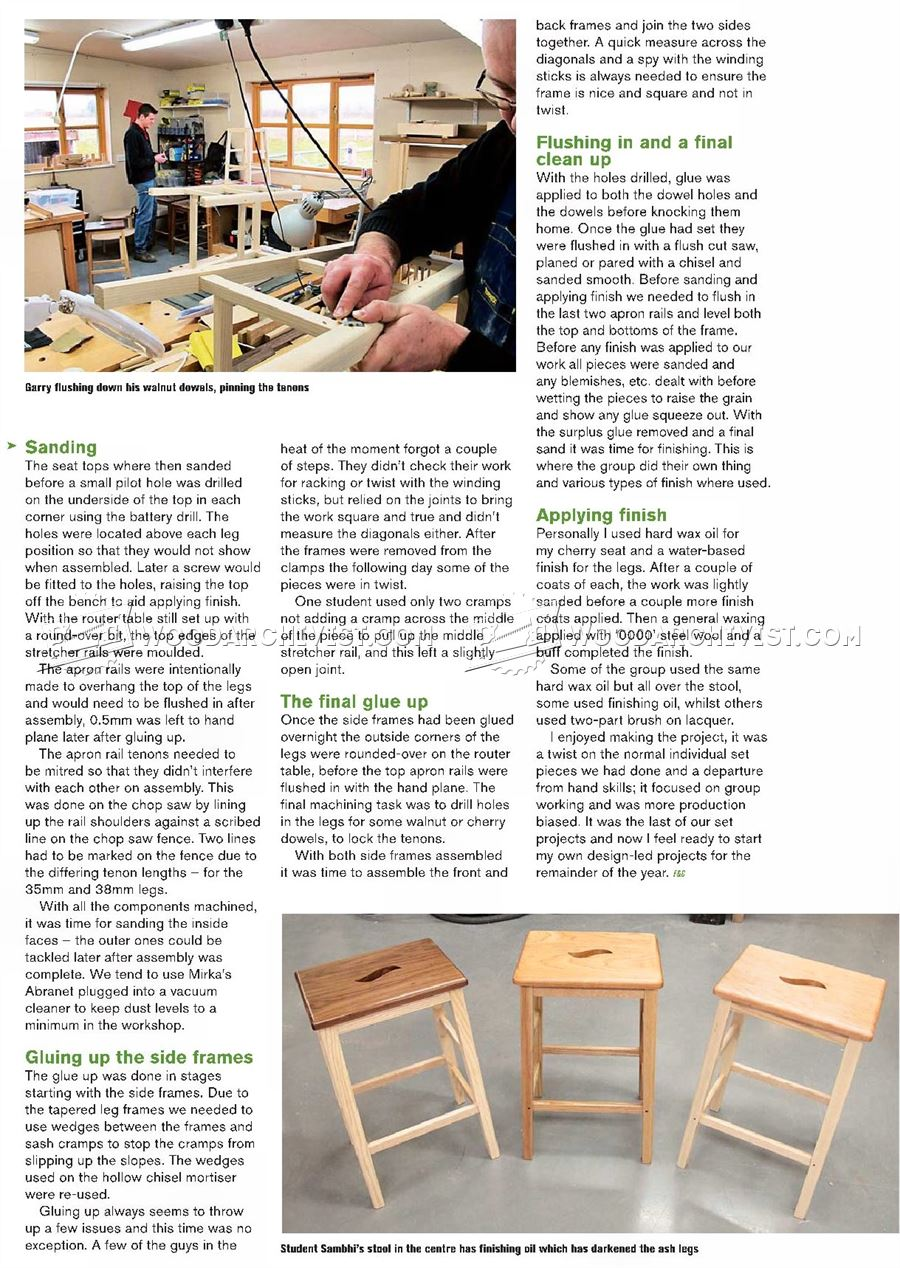Bench Stool Plans