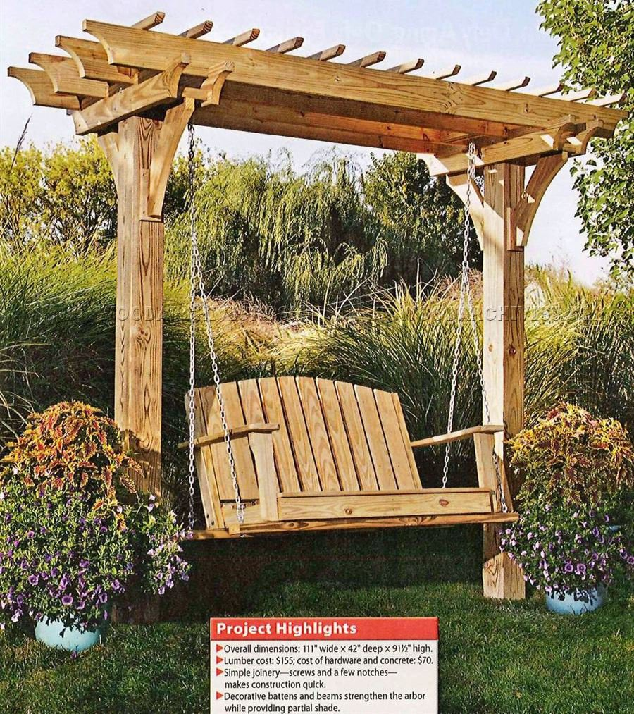 2519 Arbor Swing Plans - Outdoor Furniture Plans