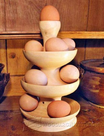 2523-Egg Tower - Woodturning Projects