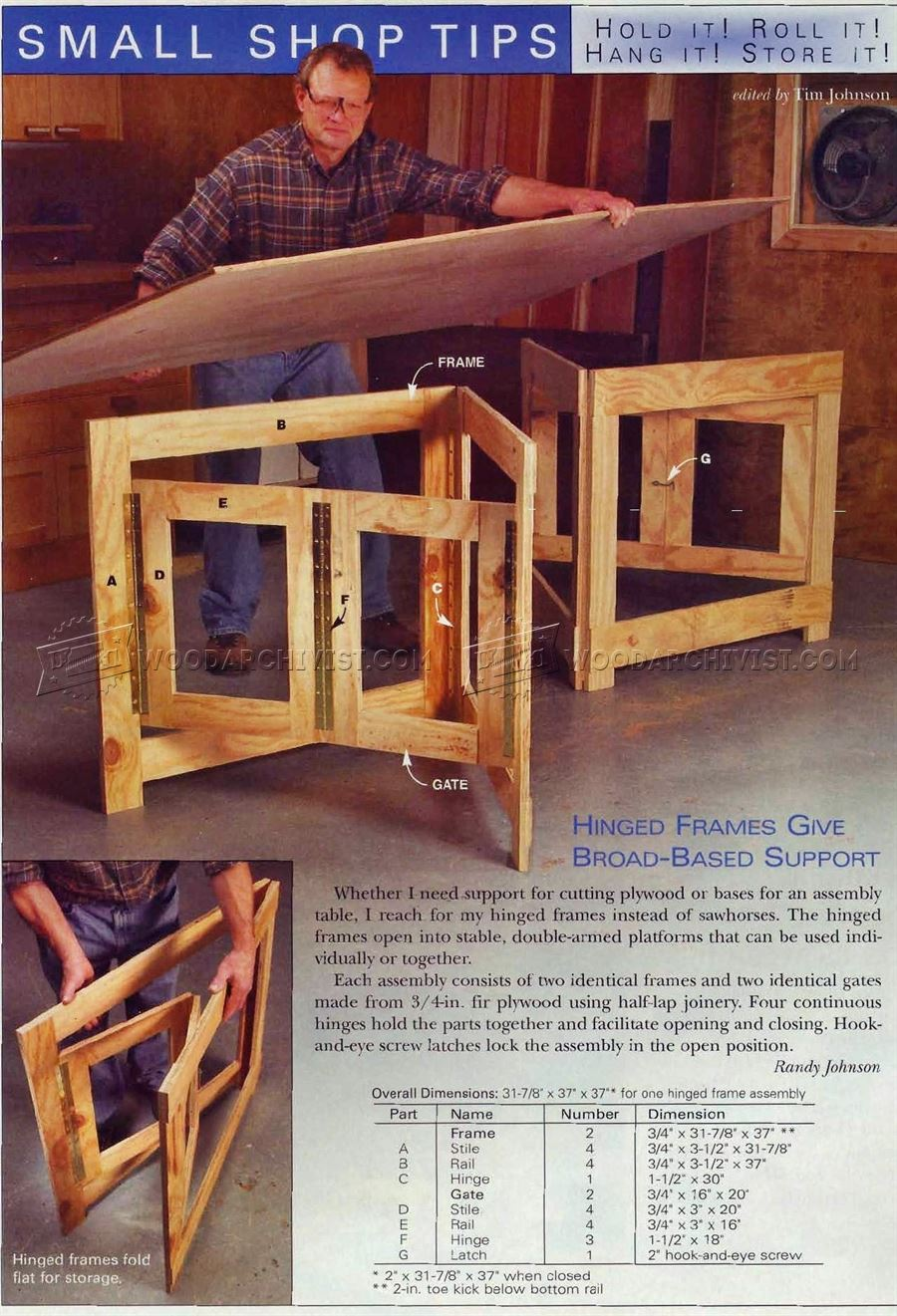 #2526 Plywood Cutting Support