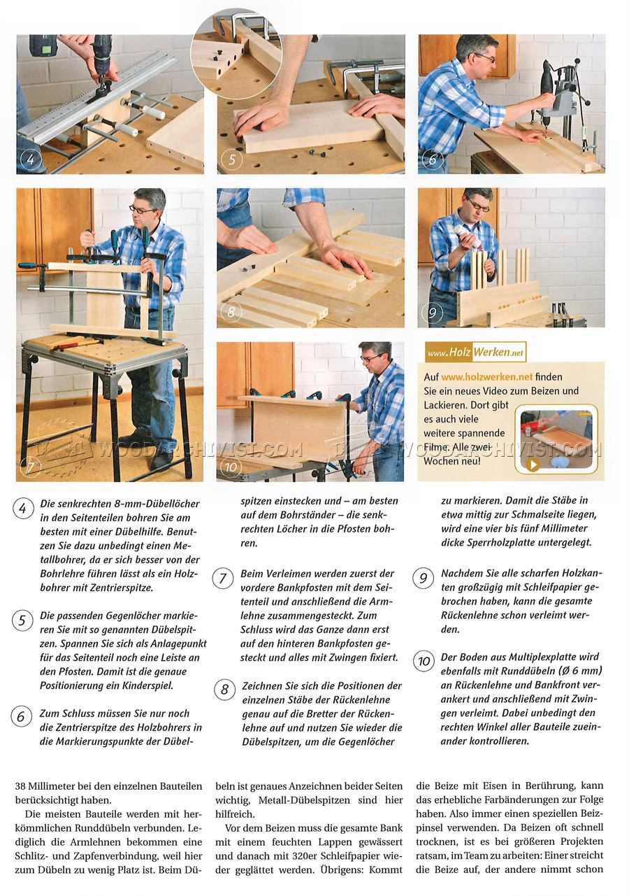 Deacons Bench Woodworking Plans