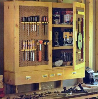 2530-Workshop Storage Cabinet Plans