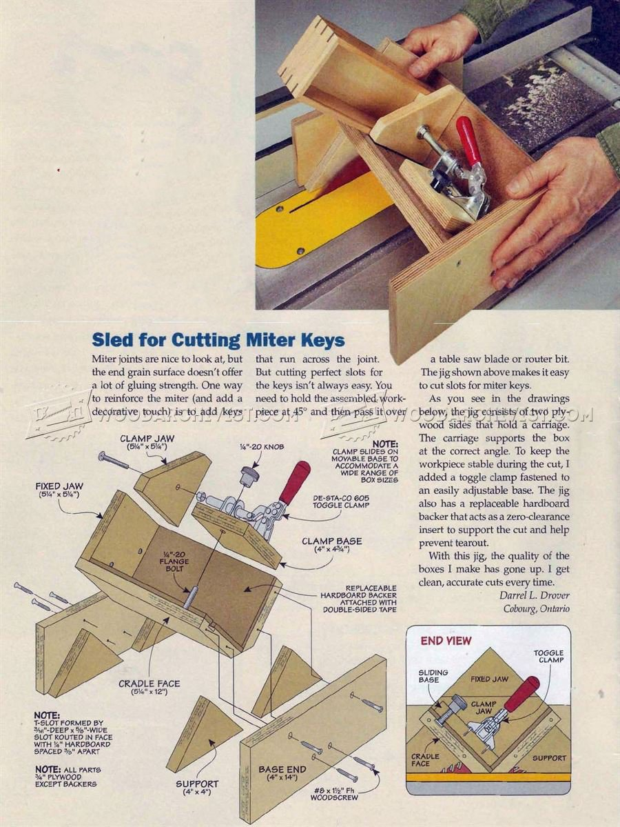 Keyed Miter Joint Sled