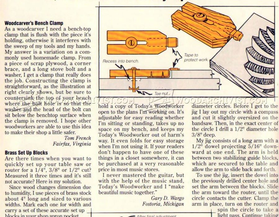 #2555 Woodcarvers Bench Clamp