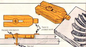 2555-Woodcarvers Bench Clamp