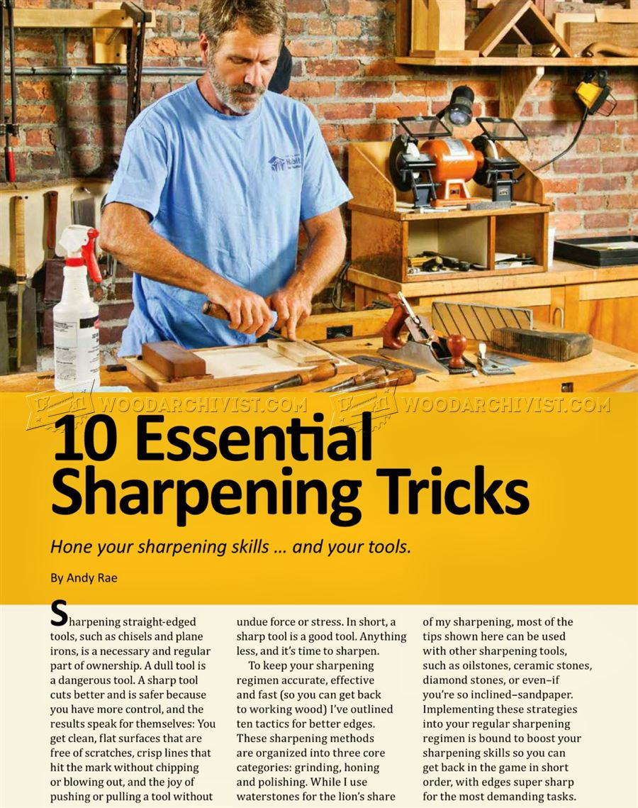 Woodworking Tool Sharpening