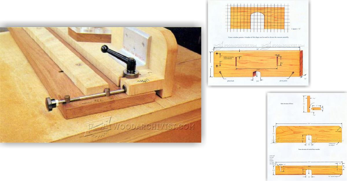 Micro Adjustable Router Table Fence Woodarchivist