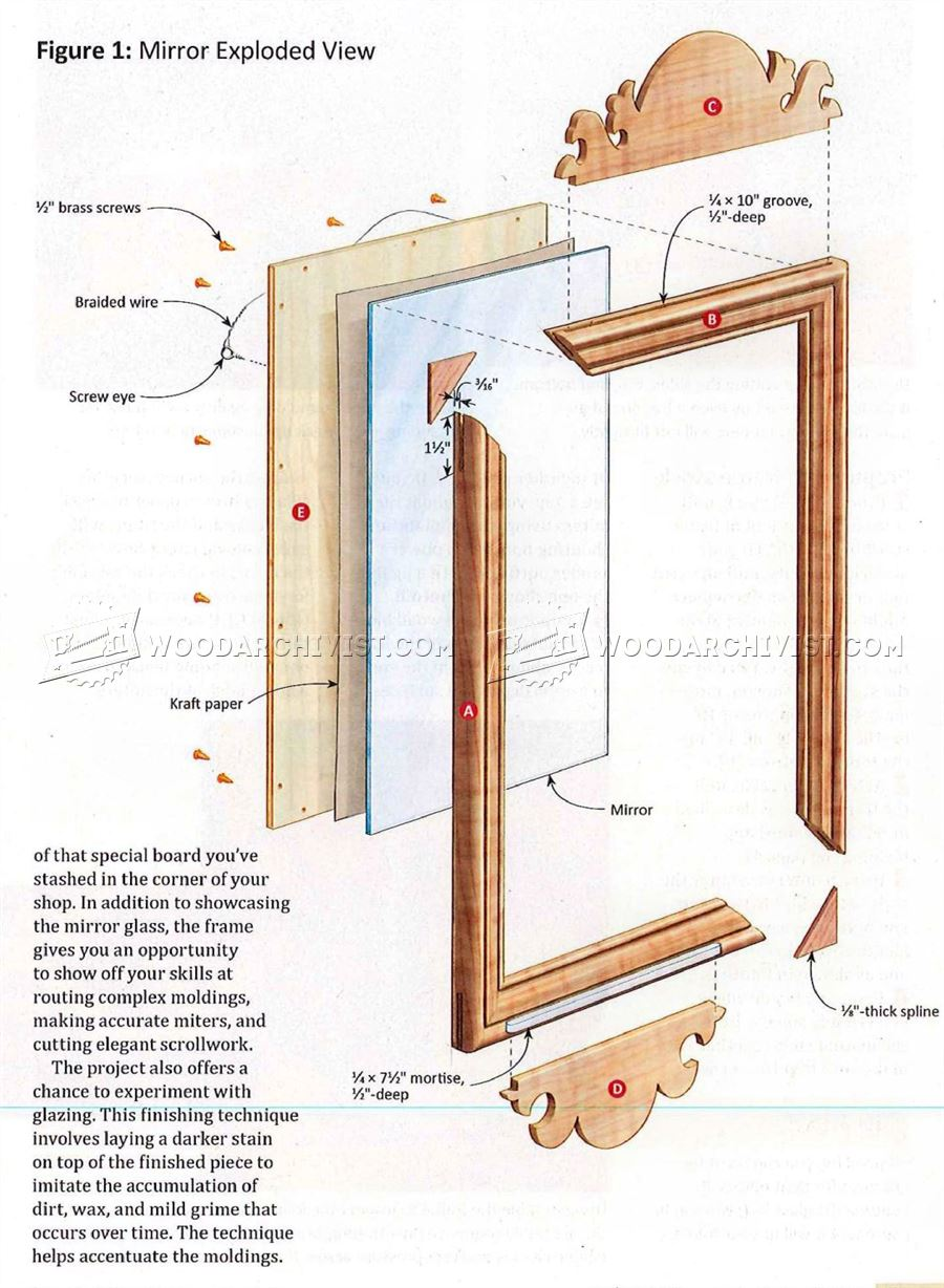 Country Wall Mirror Plans