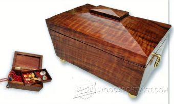 2562-Tea Caddy Trinket Box Plans