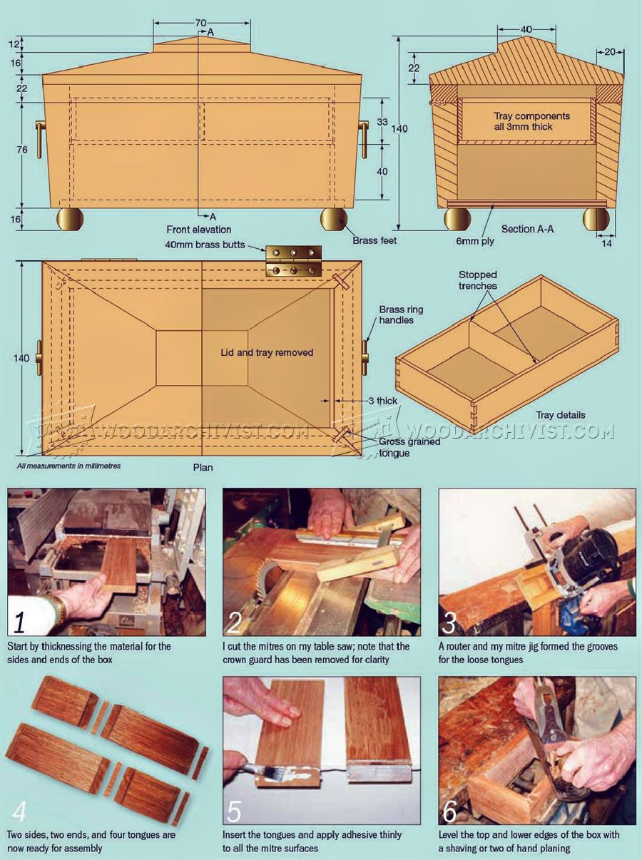 Tea Caddy Trinket Box Plans