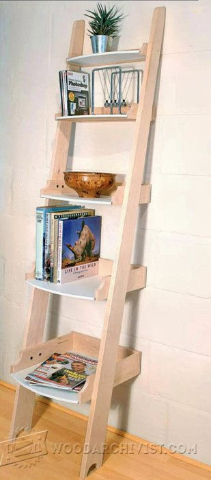 2564-Ladder Shelving Plans