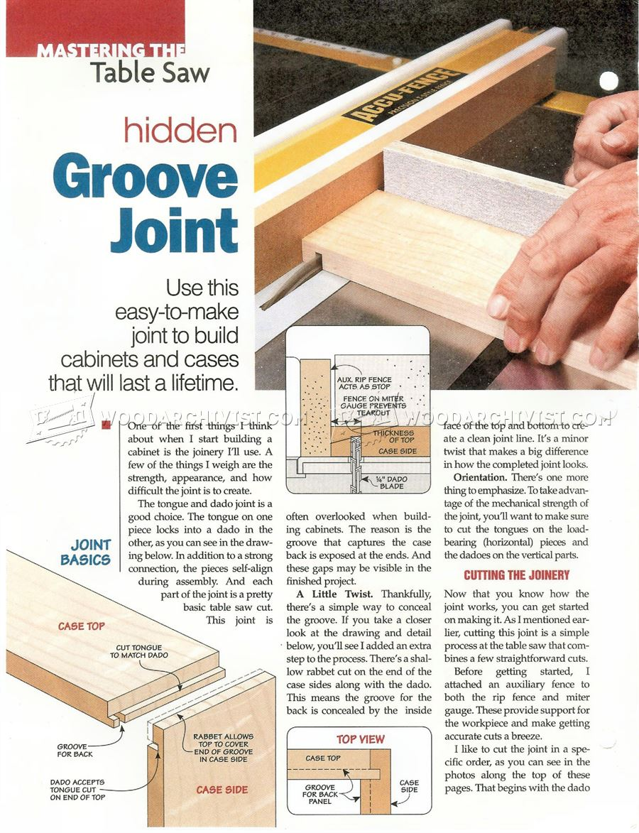 2567 Hidden Groove Joint • WoodArchivist