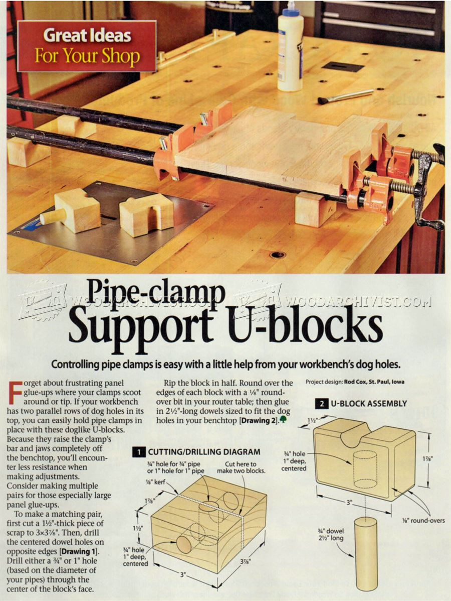 #2575 Pipe Clamp Support U-Blocks