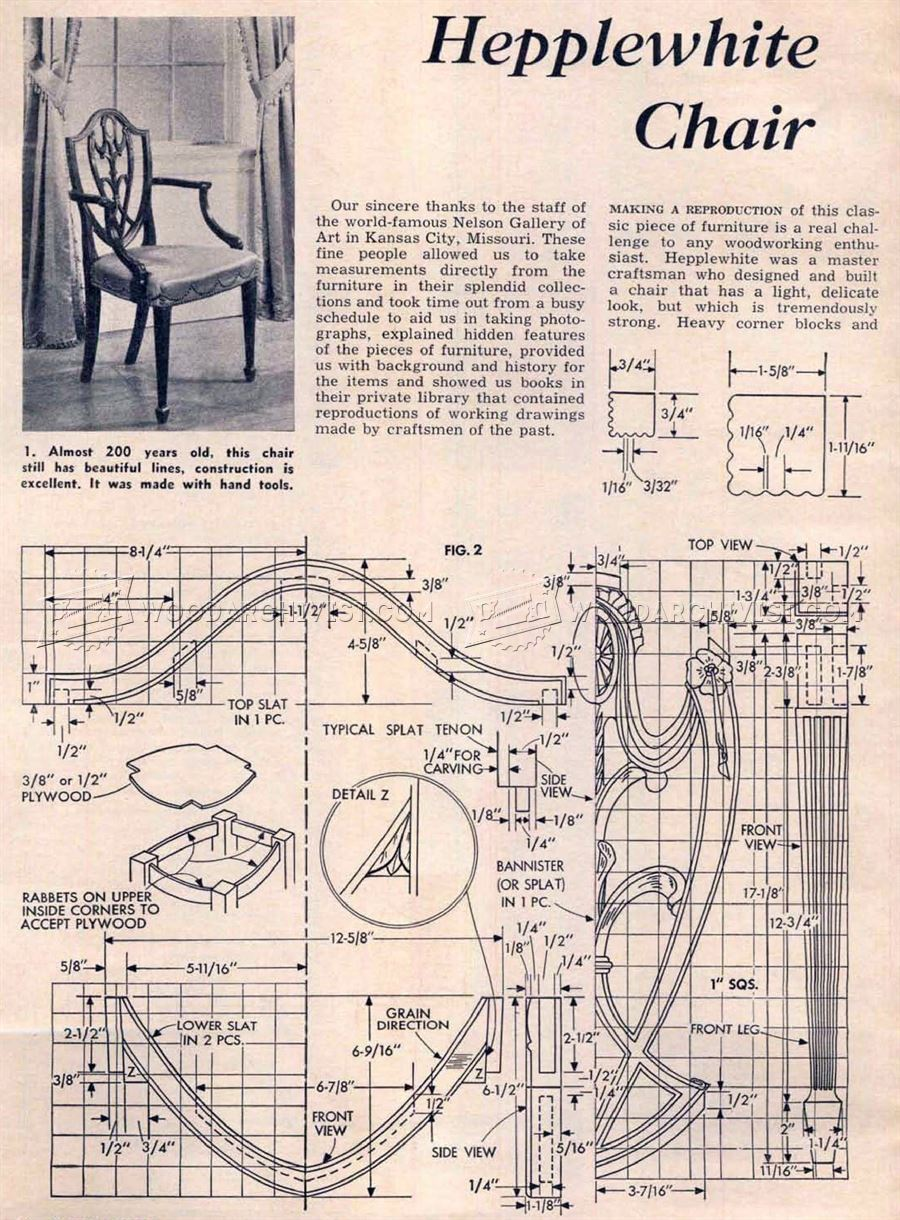 Hepplewhite Chair Plans