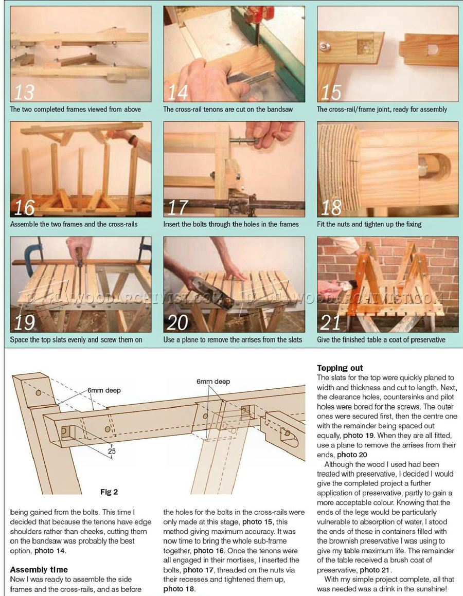 #2583 Patio Coffee Table Plans