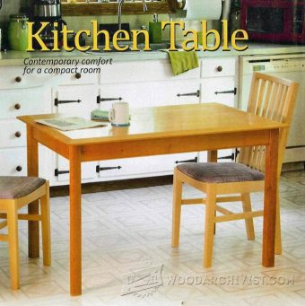 Dining room table plans woodarchivist - Wood kitchen table plans ...