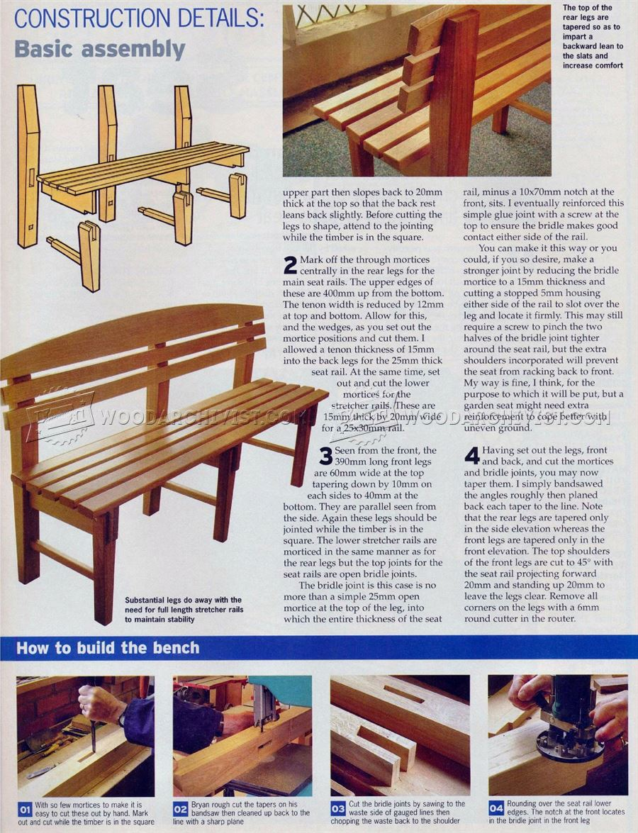 #2591 Bench Seat Plans