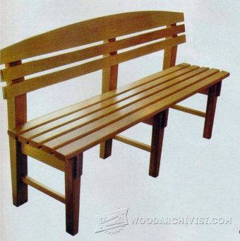 2591-Bench Seat Plans