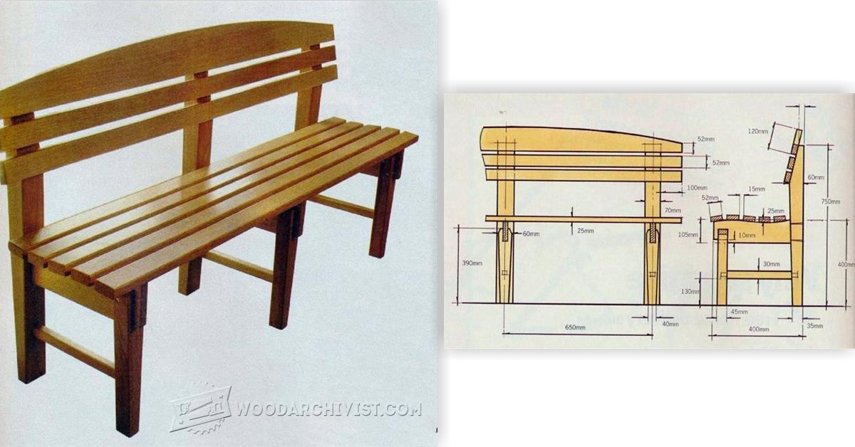 Bench Seat Plans • WoodArchivist