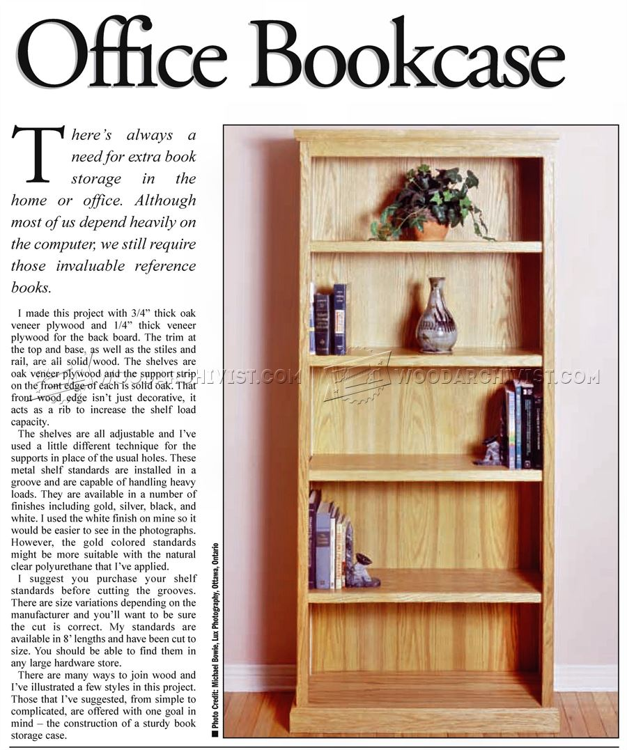 Office Bookcase Plans