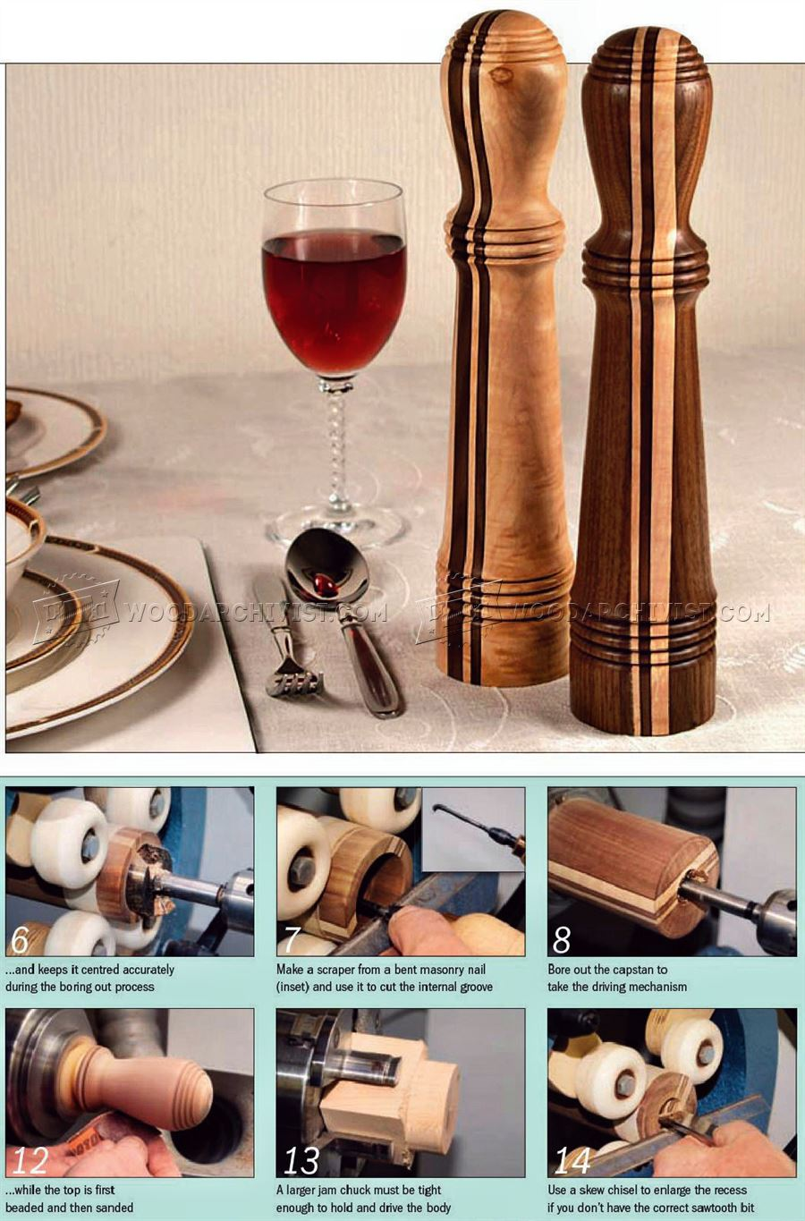 Salt and Pepper Mills - Woodturning Project