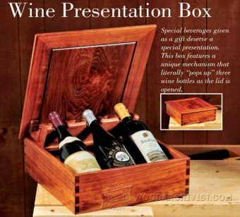 2596-Wine Presentation Box Plans