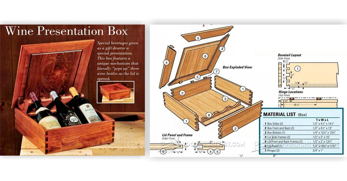Wine Presentation Box Plans • WoodArchivist