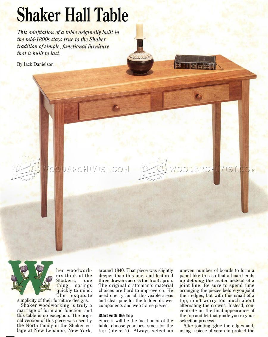 hall table furniture. Shaker Hall Table Plans Furniture D