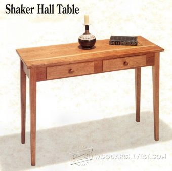 2599-Shaker Hall Table Plans