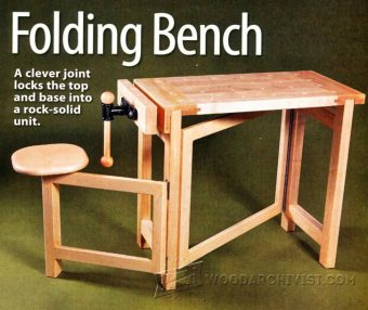 2600-Folding Wood Carving Bench Plans