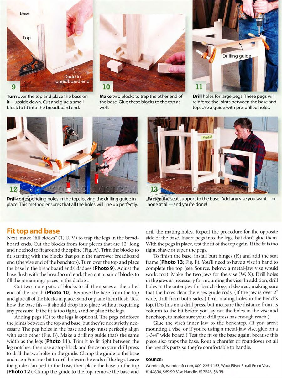 Folding Wood Carving Bench Plans